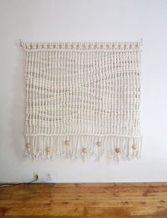 Textile Art: Large-scale woven wall hangings by Sally England Textile Fiber Art, Textiles, Macrame Projects, Weaving Art, Woven Wall Hanging, Home Accessories, Arts And Crafts, Diy Crafts, Tapestry