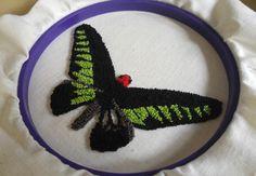Punchneedle+Butterfly+3:+Rajah+Brooke's+Birdwing