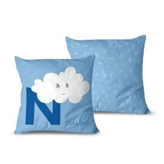 cojin-nube Textiles, Throw Pillows, Cribs For Babies, Cushion Covers, Clouds, Cushions, Cloths, Fabrics, Decorative Pillows