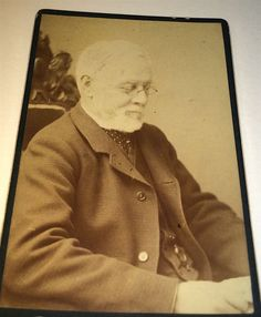 Antique Victorian ID'd English Man, Christopher Yates! Reading Book CDV Photo!