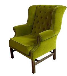 fotel Chesterfield, styl angielsk,i armchair, głęboko pikowany, plusz, velvet, zielony, green, niebieski, turkusowy, emerald , fotel uszak   19a822_fotel_chesterfield.jpg (522×590)