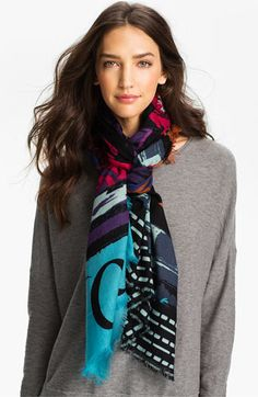 Trouvé 'Urban Graffiti' Wool Scarf available at #Nordstrom.  Errin, you would love this
