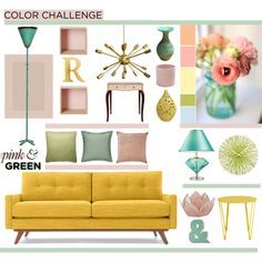 """""""Soft Pink & Green"""" by lisajean1957 on Polyvore"""