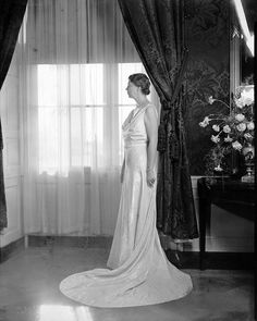 Eleanor Roosevelt in inaugural gown number 2, 1937.