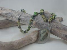 Polished Lake Ontario rock necklace