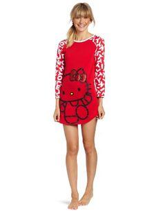 Hello Kitty Juniors What's My Name Nightshirt, Red/White, Medium