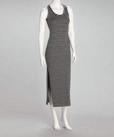 Take a look at this Black & Gray Stripe Dress by Basement Apparel on #zulily today! $20
