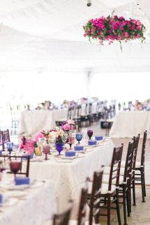 Bright Magenta Vineyard Wedding | Photos - Style Me Pretty