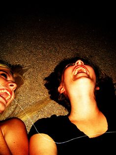 When me and my BFF go and sit on her driveway really late at night. We talk about music, boys, memories, dreams and laugh about absolutely nothing. Best Friend Pictures, Friend Photos, Best Friend Goals, My Best Friend, Besties, Bestfriends, Soul Sisters, Best Friends Forever, Laughter