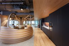 Morgan Lovell has created an inspiring workplace for Morgan Sindall Group, a British construction company, located in London, England. Breakout Area, Open Office, Group Of Companies, N21, Downlights, Open Plan, Minimalism, London, Mansions