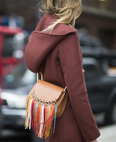 On her way – fashion editor Veronika Heilbrunner takes a break at #NYFW carrying our #SS16 Hudson bag in New York, February 2016. #chloeGIRLS