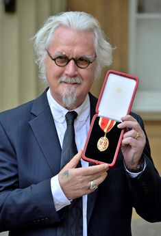 """""""Congratulations to Billy Connolly who today received a Knighthood from The Duke of Cambridge for his services to entertainment & charity. Stacey Solomon, Billy Connolly, Scottish Actors, Funny People, Funny Men, Love Island, Big Star, Buckingham Palace, Humor"""