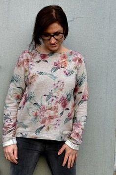 Bequemes Lounge-Sweater für Damen, auch in großen Größen - Nähanleitung und Schnittmuster via Makerist.de