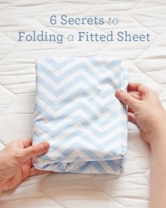 I have always wanted to know how to fold a fitted sheet ... Now I know how!  Thank you!