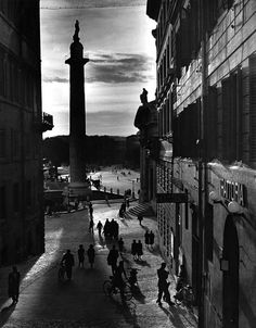 Herbert List - Rome [with Trajan's Column] (1949).