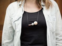 DIY-Anleitung: Perlenkette mit Kupfer und Holz selber machen via DaWanda.com