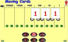 Moving Digit Cards - 7-14 year olds - Topmarks