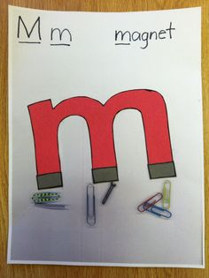Letter M craft-- magnet