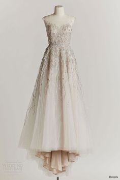 bhldn spring 2015 wisteria beaded bodice #wedding dress illusion neckline #weddingdress #weddings #bridal #weddinggown