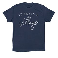 It takes a Village adoption tshirt design. Adoption fundraising. Easy adoption fundraising.