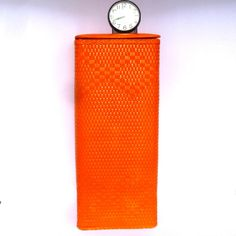 UPCYCLED Small ORANGE Clothes HAMPER by orangedoorcottage on Etsy Upcycled Vintage, Vintage Decor, Orange Company, Orange Door, Orange Clothes, Hamper, Industrial Style, Flask, Etsy Store