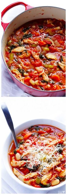 Tomato Basil Chicken Stew -- comforting, simple, and ready in under 30 minutes | gimmesomeoven.com #soup #recipe #dinner