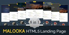 Malooka - Landing Page Template