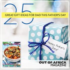 Fathers Day is coming get to the shops with OUT OF AFRICA!  Make it special make it different this year with OUT OF AFRICA. Our collection of unique and creative gift ideas will put a smile on any Dads face. Find something beyond socks in the June issue of OUT OF AFRICA Magazine. See more at http://ift.tt/1U6C1sm