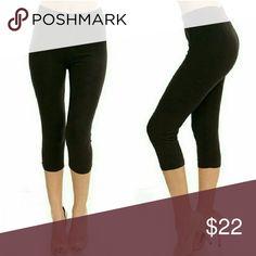 Selling this Basic Black Capri Leggings on Poshmark! My username is: mjburkus. #shopmycloset #poshmark #fashion #shopping #style #forsale #Pants