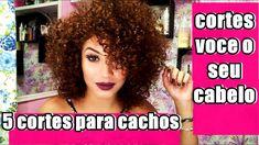 Aprenda 5 CORTES para cabelos CACHEADOS para voce CORTAR  SOZINHA  , fac... Cabelo 3c 4a, Curl Curl, Curls, Hair Care, Hair Beauty, Hair Styles, How To Make, Beautiful, Youtube