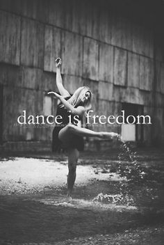 Dancing, lets me get all of my emotions out, when i dance i forget everything but how i'm feeling.