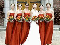 Burnt Orange Bridesmaid Dresses  Wedding: Bridal Party ...