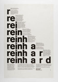 reinh a r d, 1973 Design: Siegfried Odermatt