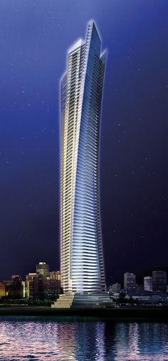 Ocean Heights One Residential Tower, Dubai, UAE by Aedes Architects :: 82 floors, hight 310m