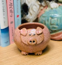 Pink Speckle Pig Ceramic or Pottery Bowl for Change, Jewelry, Food or Succulents – ceramics Pottery Cafe, Pottery Bowls, Ceramic Pottery, Slab Pottery, Pottery Studio, Ceramic Pinch Pots, Ceramic Bowls, Ceramic Art, Beginner Pottery