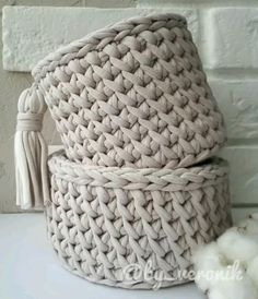 Crochet Bedspread Pattern, Crochet Basket Pattern, Crochet Stitches Patterns, Macrame Patterns, Crochet Designs, Crochet Basket Tutorial, Crochet Cushions, Crochet Bag Tutorials, Crochet Instructions