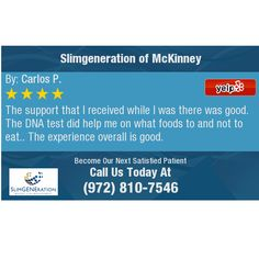 The support that I received while I was there was good. The DNA test did help me on what...