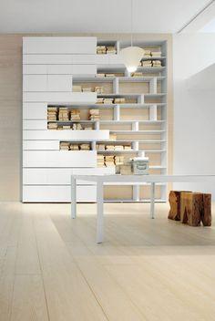 LINE Bookcase by ALBED by Delmonte design Daniele Lo Scalzo Moscheri Furniture Plans, Furniture Design, Office Furniture, Modular Furniture, Luxury Furniture, Regal Design, Modular Walls, Bookshelf Design, Bookcase Shelves