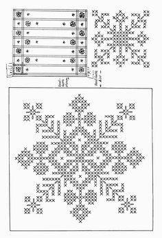 snowflake crosstitch