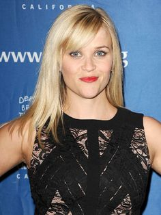 Reese Witherspoon  This Oscar winner's cute cut is classy and a bit sassy. Her side part and medium-length bangs bring a softness to her angular face.