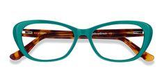 Fashion Eye Glasses, Cat Eye Glasses, Cute Glasses, New Glasses, Green Glasses Frames, Cat Eye Frames, Eyeglasses For Women, Tortoise, Teal