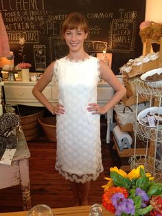 This dress would be so cute to wear as a wedding dress!