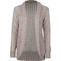 FULL TILT Open Weave Cocoon Womens Sweater ($20) found on Polyvore