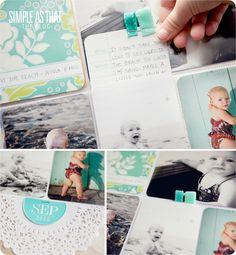 love this idea for hidden journaling...    simple as that: The beginnings of my 2010-2011 Project Life Album