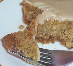 Gluten Free Applesauce Almond Cake with Brown Sugar & Honey Frosting