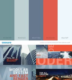 49 color schemes for 2017 - Envato - Medium Website Color Palette, Website Color Schemes, Colour Schemes, Web Design Inspiration, Color Inspiration, Flat Web Design, App Design, Colour Pallete, Color Palettes