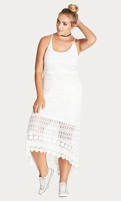 Style By Trend: The Edit Part 2 City Chic - DRESS CROCHET COOL - Women's Plus Size Fashion City Chic - City Chic Your Leading Plus Size Fashion Destination #citychic #citychiconline #newarrivals #plussize #plussizefashion