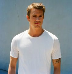 Joel Kinnaman, of AMCs's The Killing. He plays Detective Steven Holder. He is the main reason I watch this show.