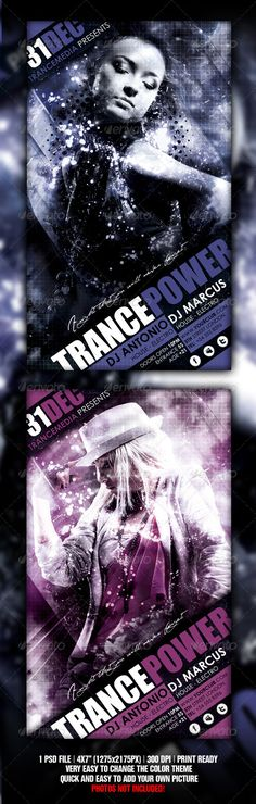 Trance Energy Flyer — Photoshop PSD #live #minimal • Available here → https://graphicriver.net/item/trance-energy-flyer/1861814?ref=pxcr