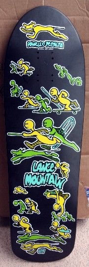 Powell Peralta - Lance Mountain 1990 Old School Skateboards, Vintage Skateboards, Skateboard Deck Art, Skateboard Design, Skate Art, Skate Decks, Longboards, The Good Old Days, Artist At Work
